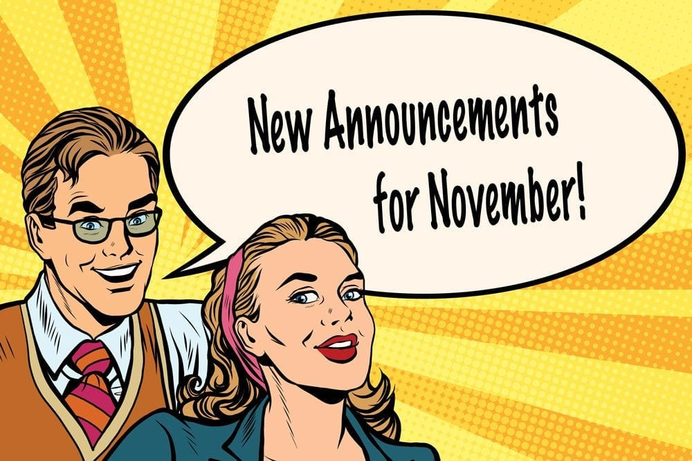 New Features For November!