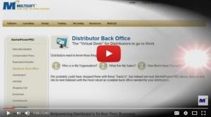 Distributor Back Office Video
