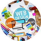 Web Design Circle Icon