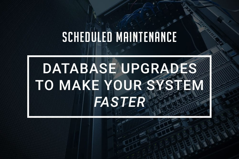 Database Upgrades Coming