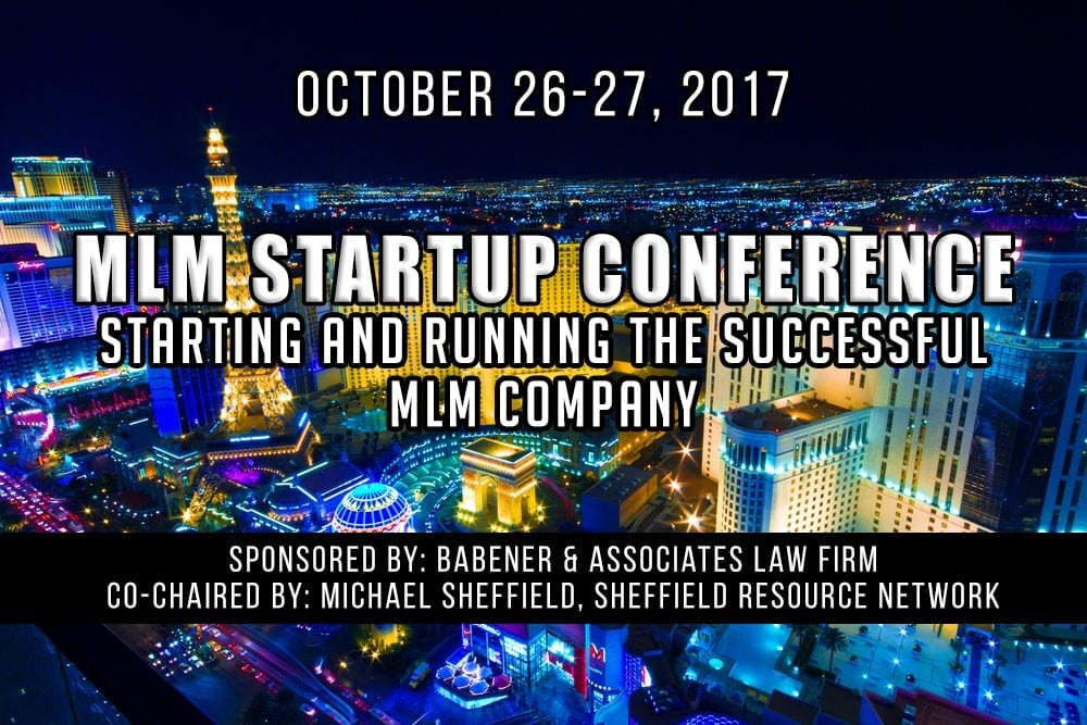 MLM Startup Conference October 26-27, 2017